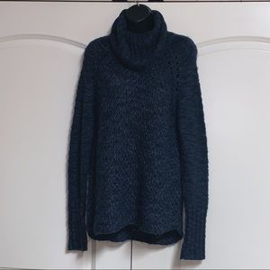 Sanctuary Blue Marled Loose Knit Sweater XS
